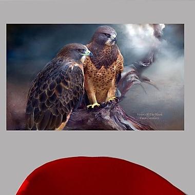 Wallhogs Cavalaris Vision of The Hawk I Wall Mural; 21.5'' H x 36'' W