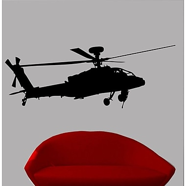 Wallhogs Haynes Silhouette Helicopter VIII Cutout Wall Decal; 26.5'' H x 72'' W