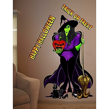 Wallhogs Woody's Digital Art Standing Witch Wall Decal; 48'' H x 28'' W