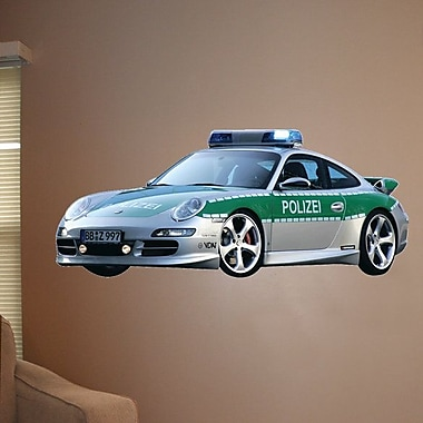 Wallhogs Police Car II Cutout Wall Decal; 15'' H x 36'' W