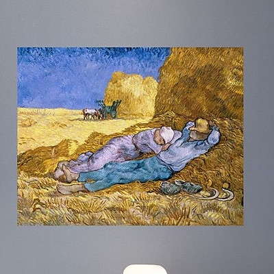 Wallhogs Van Gogh The Siesta After Millet (1890) Wall Mural; 19'' H x 24'' W