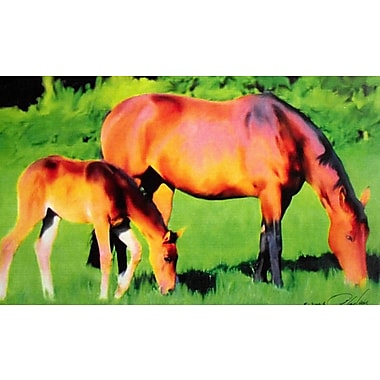 Wallhogs Tymeless Wonders Mare and Foal I Wall Mural; 14.5'' H x 24'' W