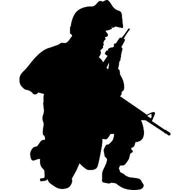 Wallhogs Haynes Military Soldier II Silhouette Cutout Wall Decal; 28.5'' H x 36'' W
