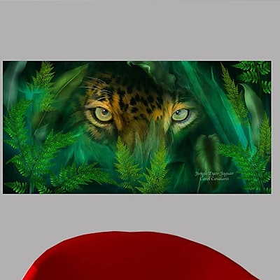 Wallhogs Cavalaris Jungle Eyes Jaguar Wall Mural; 12'' H x 24'' W