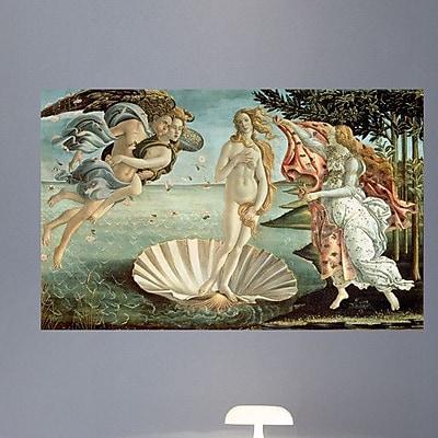 Wallhogs Botticelli The Birth of Venus (1485) Wall Mural; 37.5'' H x 60'' W