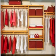 John Louis Home 96''W Closet System; Honey Maple
