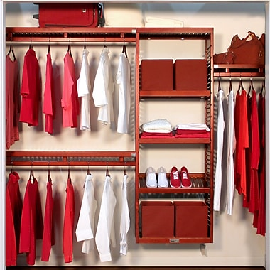 John Louis Home Closet System; Red Mahogany