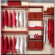 John Louis Home 96''W Closet System; Red Mahogany