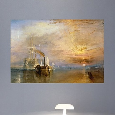 Wallhogs Turner The Fighting Temeraire (19th) Wall Mural; 44.5'' H x 60'' W