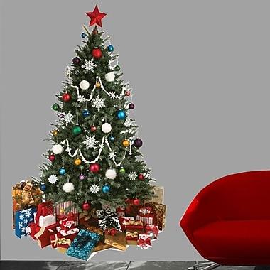 Wallhogs Christmas Tree Cutout Wall Decal; 48'' H x 29'' W