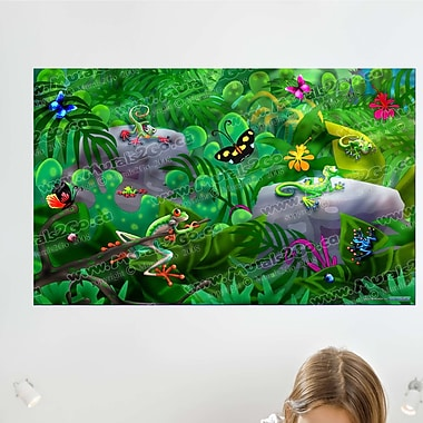 Wallhogs Jungle Critters Wall Mural; 44.5'' H x 72'' W