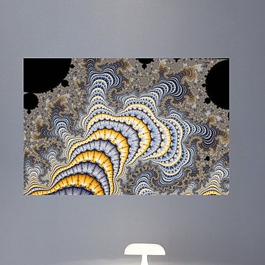 Wallhogs Backlund Fractal Plates Wall Mural; 24'' H x 36'' W