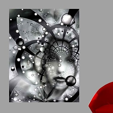 Wallhogs Xzendor7 Face in The Galactic Web of Chaos Wall Mural; 60'' H x 44.5'' W