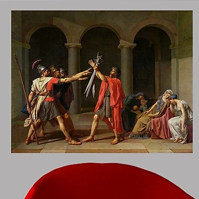 Wallhogs David The Oath of Horatii (1784) Wall Mural; 19'' H x 24'' W
