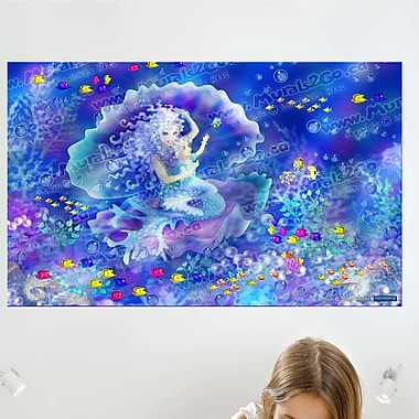 Wallhogs Mermaid Wall Mural; 15'' H x 24'' W