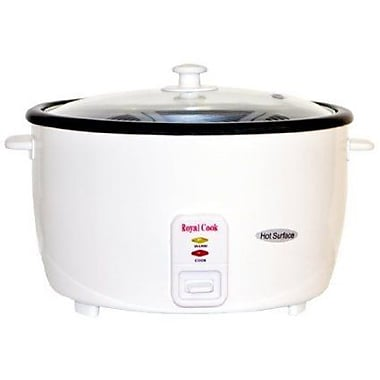 ROYAL COOK Persian 25 Cup Rice Cooker w/ Glass Lid
