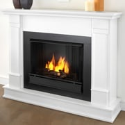 Real Flame Silverton Gel Fuel Fireplace; White