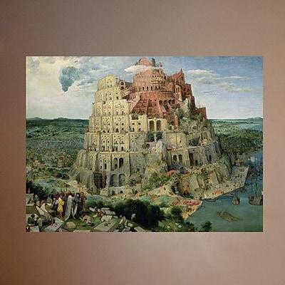 Wallhogs Bruegel Tower of Babel (1563) Wall Mural; 44.5'' H x 60'' W