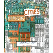 """Chronicle Books """"Fantastic Cities Coloring Book,"""" Softcover, Adult Coloring Book"""