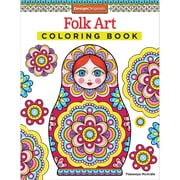 Folk Art Coloring Book, Softcover (DO-5494)