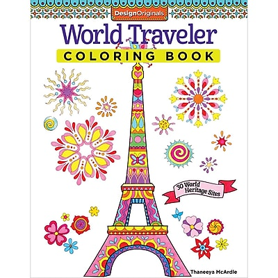 World Traveler Coloring Book, Softcover (DO-5495)