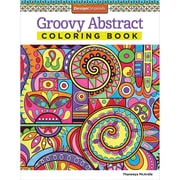 Design Originals Groovy Abstract Coloring Book, Softcover, Adult Coloring Book