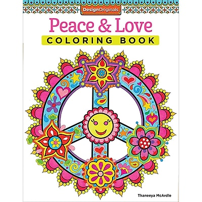 Peace and Love Coloring Book, Softcover (DO-5498)