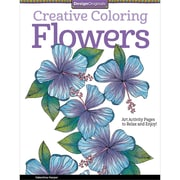 Design Originals Creative Coloring Flowers Adult Coloring Book, Softcover