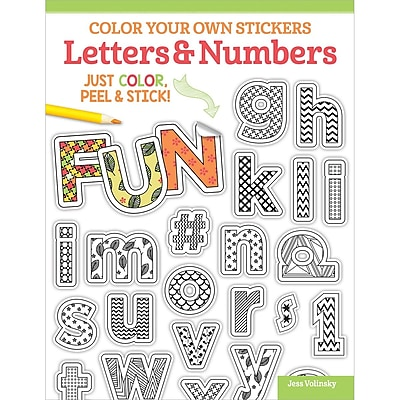 Color Your Own Sticker Letters and Numbers, Softcover (DO-5587)