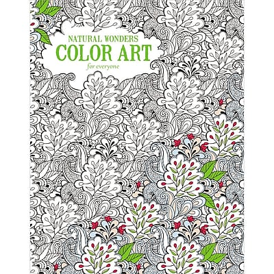 Leisure Arts Natural Wonders Color Art Adult Coloring Book, Softcover