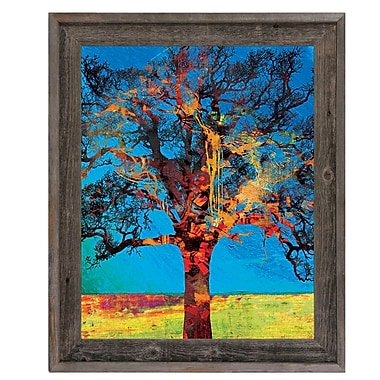 Click Wall Art 'Radiant Tree Red and Yellow' Framed Graphic Art ; 17.5'' H x 14.5'' W x 1'' D