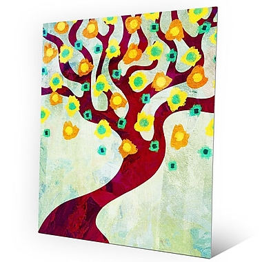 Click Wall Art 'Fun Time Tree Time' Graphic Art on Metal; 24'' H x 20'' W x 0.04'' D