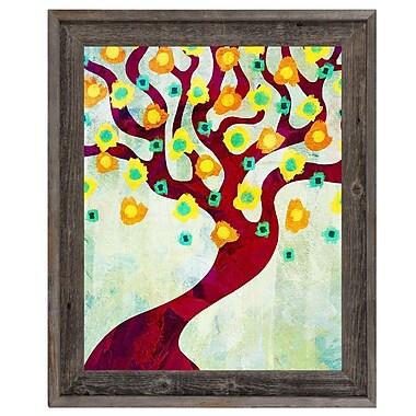 Click Wall Art 'Fun Time Tree Time' Framed Graphic Art; 27.5'' H x 23.5'' W x 1'' D