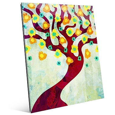 Click Wall Art 'Fun Time Tree Time' Graphic Art on Glass; 10'' H x 8'' W x 1'' D