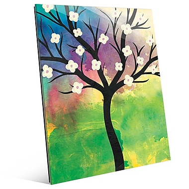 Click Wall Art 'Flower Tree Kappa' Painting Print; 24'' H x 20'' W x 1'' D