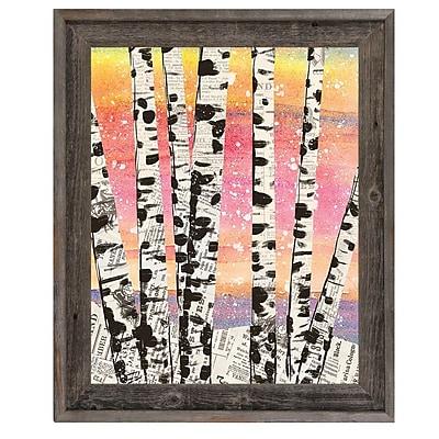 Click Wall Art 'Winter Aspens Beta' Framed Graphic Art; 33.5'' H x 23.5'' W x 1'' D