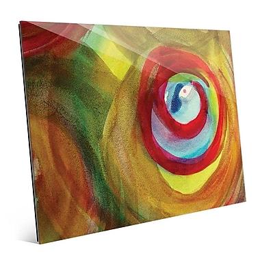 Click Wall Art 'Speranza' Painting Print on Glass; 8'' H x 10'' W x 1'' D
