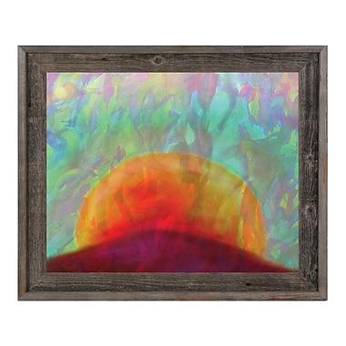 Click Wall Art 'Tramonto' Framed Painting Print; 14.5'' H x 17.5'' W x 1'' D