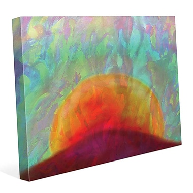 Click Wall Art 'Tramonto' Painting Print on Wrapped Canvas; 24'' H x 36'' W x 1.5'' D