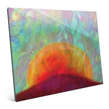 Click Wall Art 'Tramonto' Painting Print on Glass; 16'' H x 20'' W x 1'' D