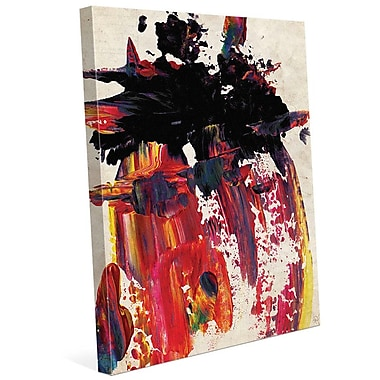 Click Wall Art 'Shark Bite' Painting Print on Wrapped Canvas; 20'' H x 16'' W x 1.5'' D