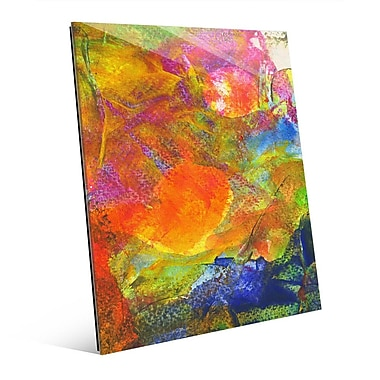 Click Wall Art 'Sole Crazy' Painting Print on Glass; 20'' H x 16'' W x 1'' D