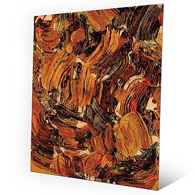 Click Wall Art 'Bee Swarming' Painting Print on Metal; 30'' H x 20'' W x 0.04'' D