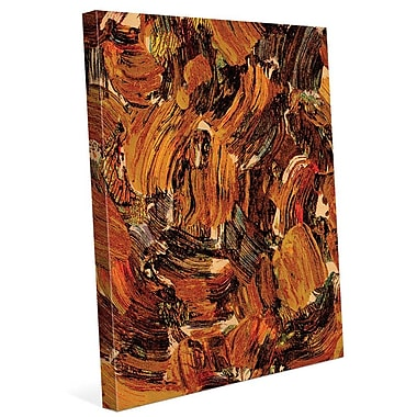 Click Wall Art 'Bee Swarming' Painting Print on Wrapped Canvas; 36'' H x 24'' W x 1.5'' D