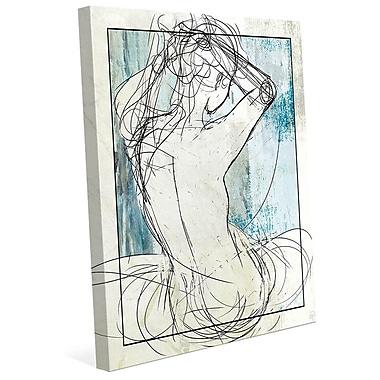 Click Wall Art 'Woman on Sky' Graphic Art on Wrapped Canvas; 30'' H x 20'' W x 1.5'' D