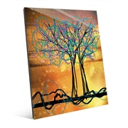 Click Wall Art 'Scribbled Trees V' Graphic Art on Glass; 20'' H x 16'' W x 1'' D