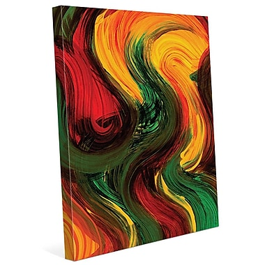 Click Wall Art 'Soft as the Wind' Painting Print on Canvas; 36'' H x 24'' W x 1.5'' D