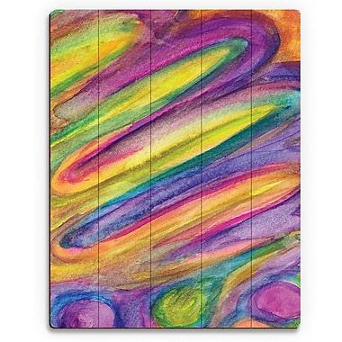 Click Wall Art 'La Torta' Painting Print on Wood; 24'' H x 20'' W x 1'' D