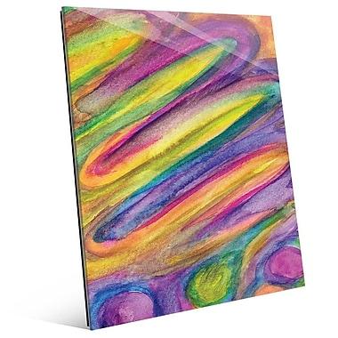 Click Wall Art 'La Torta' Painting Print on Glass; 14'' H x 11'' W x 1'' D