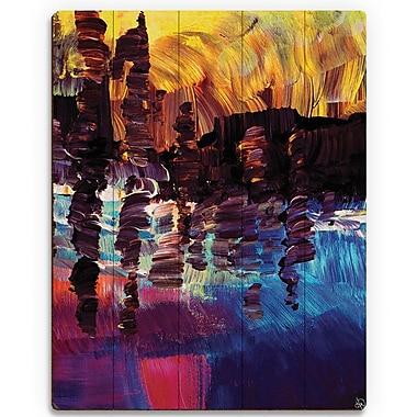 Click Wall Art 'Lin Lin' Painting Print on Wood; 12'' H x 9'' W x 1'' D
